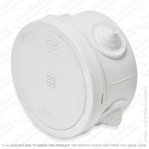 H25) Enclosure Plastic D60x35 IP44 Round Box