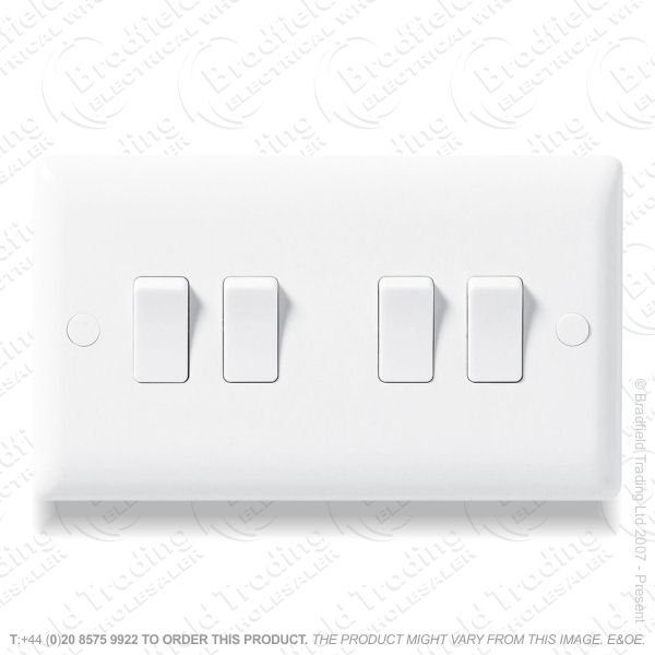 Switch SP 6A 4G 2w white Plastic ECO