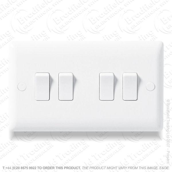 Switch SP 6A 4G 2w white Plastic ECO