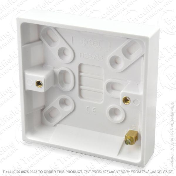 H23) Pattress Surface Box 1G 45mm BG