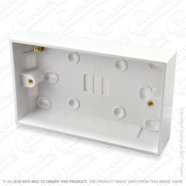 H23) Pattress Surface Box 2G 47mm BG