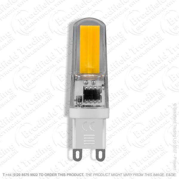 A46) 3W G9 Cap Bulb LED 22-28k 300lm Dim CROM