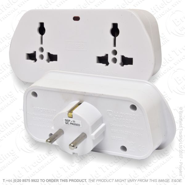 F11) European Travel Adapter 2way