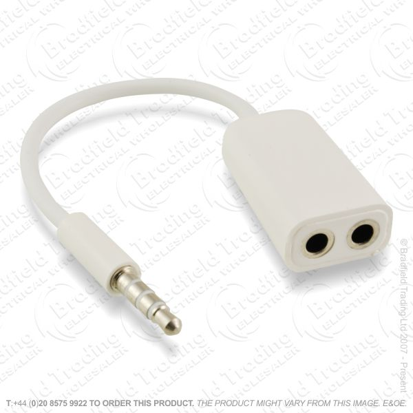 E18) Spliter Ipod 3.5mm Plug to 2 Sockets
