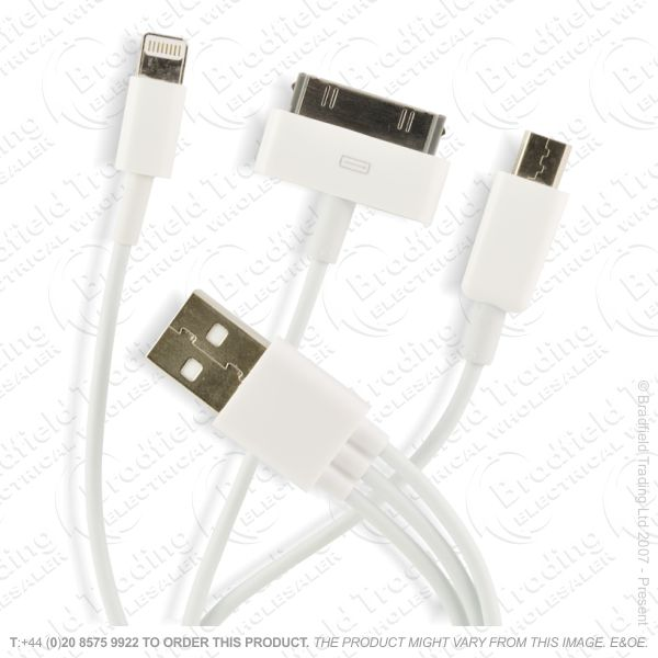 E18) Iphone 5/4 to USB2 Cable 3-1