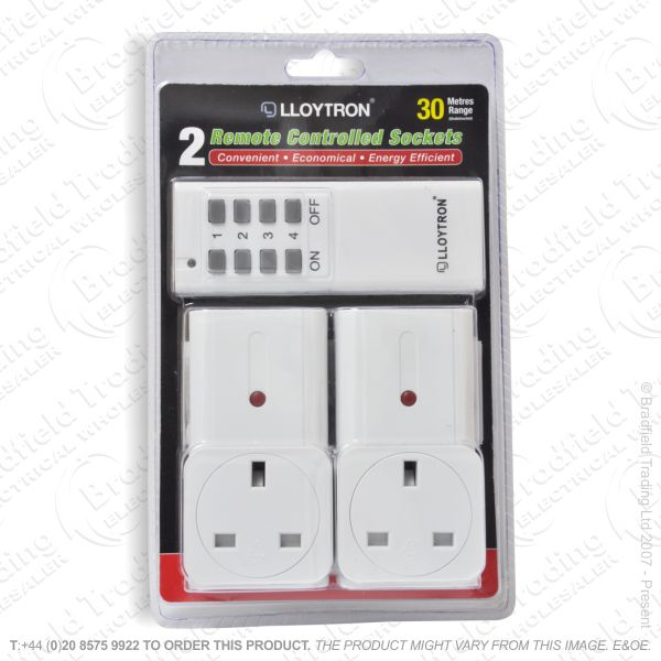 I12) Socket Adaptor 13A 1000W Remote x2