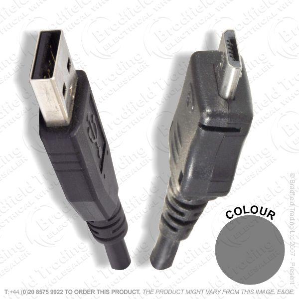 E18) USBa to Micro USB p-p Lead 1M 2075