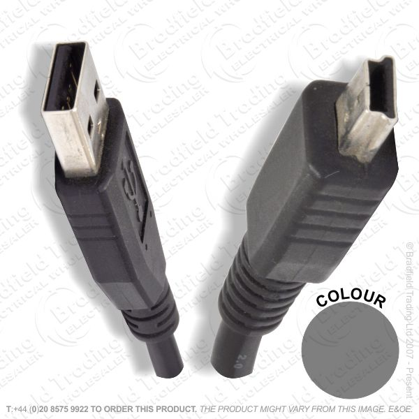 E18) USBa to USBb Mini 5pin Lead 2M P288AK