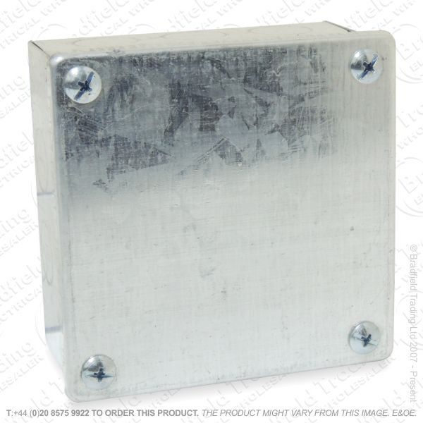 H25) Enclosure Galvanized 100x100x50 Box