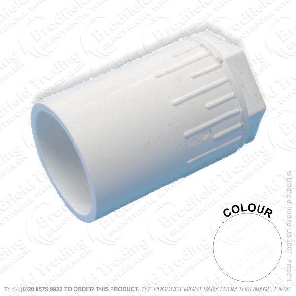 H16) Conduit PVC Female Adaptor 25mm white
