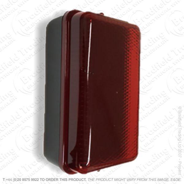 Fitting Bulkhead Red Black LED 5W IP54