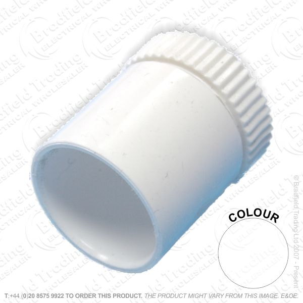 H16) Conduit PVC Male Adaptor 20mm white