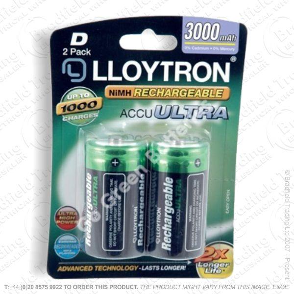 E10) Battery Rech D 1.2V 3000mA LLO