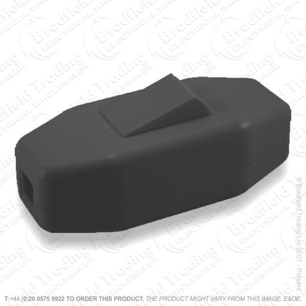 F14) Switch Through 6A 3core Black BP