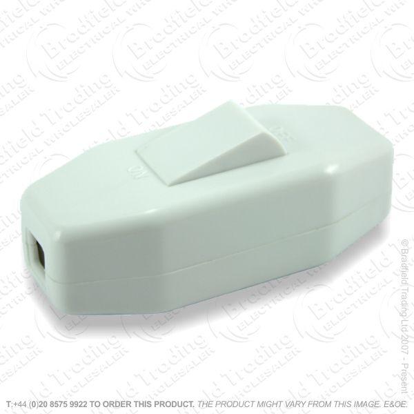 F14) Switch Through 6A 3core White BP