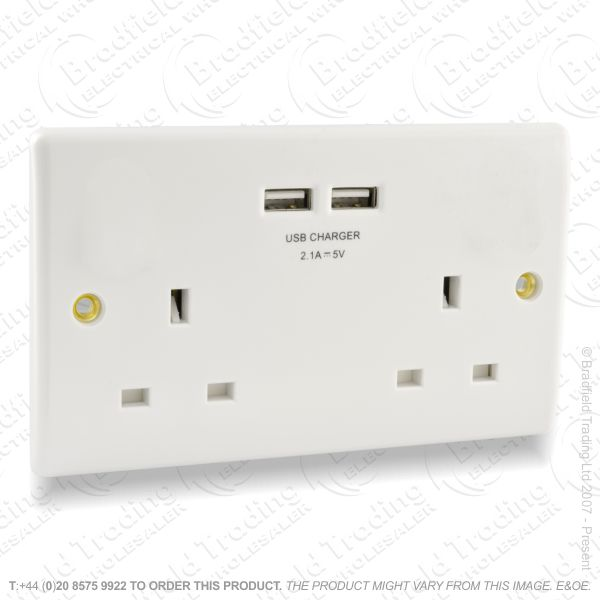 Socket USB 2G 13A white REDGREY BP