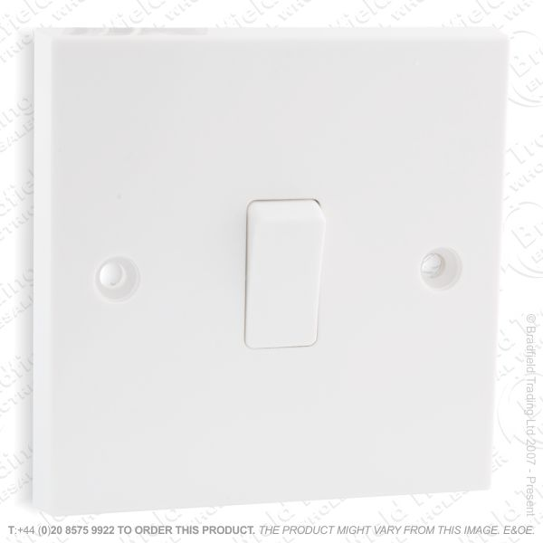 I17) Switch SP 6A 1G 1w White Plastic ECO