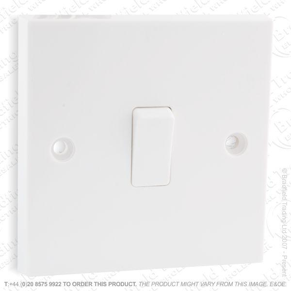 I17) Switch SP 6A 1G 2w White Plastic ECO