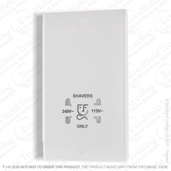 Socket Shaver DualVoltage white BP RED