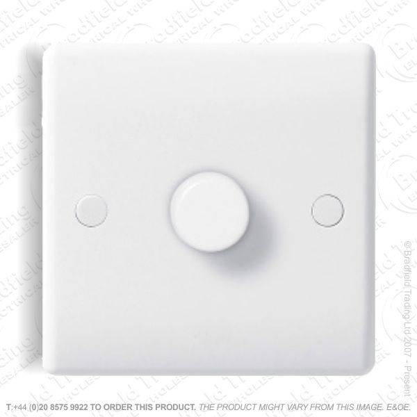 Dimmer 1Gang 1Way 250w Rot White ECO