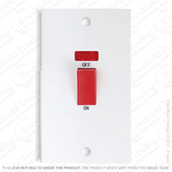Switch 45A DP Neon 2g Plate Wh ECO BP