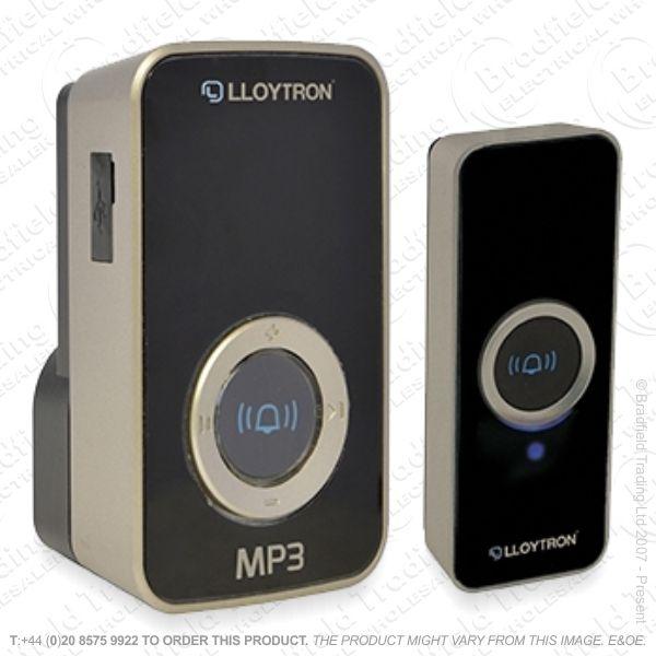 Door Bell Mains Plug In Wireless Bla MP3 LLO