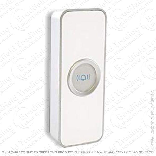 Door Bell Push Only White LLOYTRON
