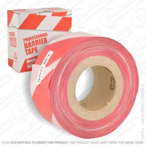 G03) 70mmx500m Barrier Tape Red/White