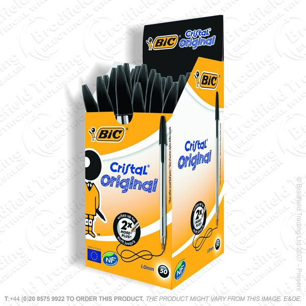 C25) BIC Pen Black Box 50