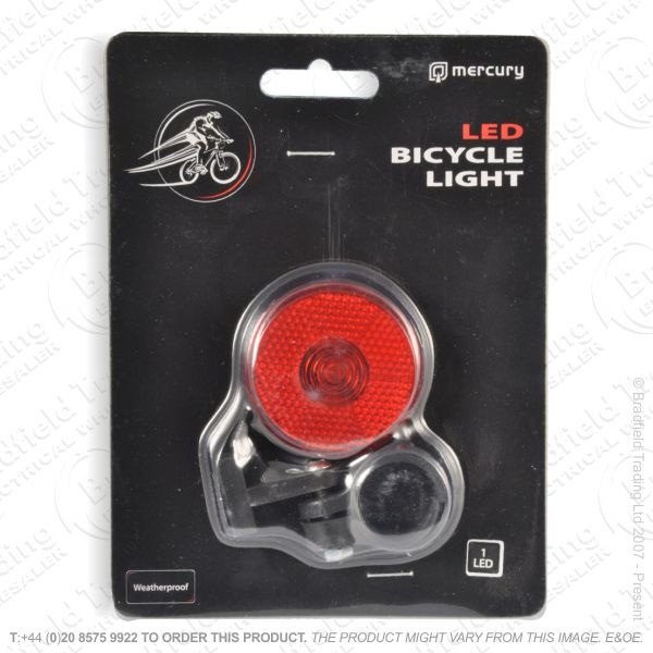 G56) Bicycle LED (1) Red RearLightBright