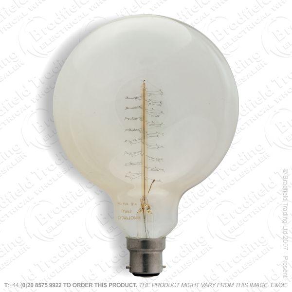 A08) Globe G95 BC 40W Long Filament