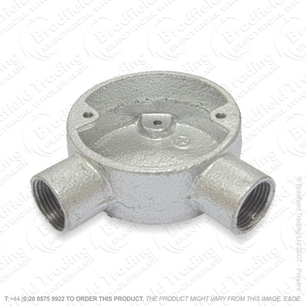 H17) Conduit Gal Box Angled 20mm 2w
