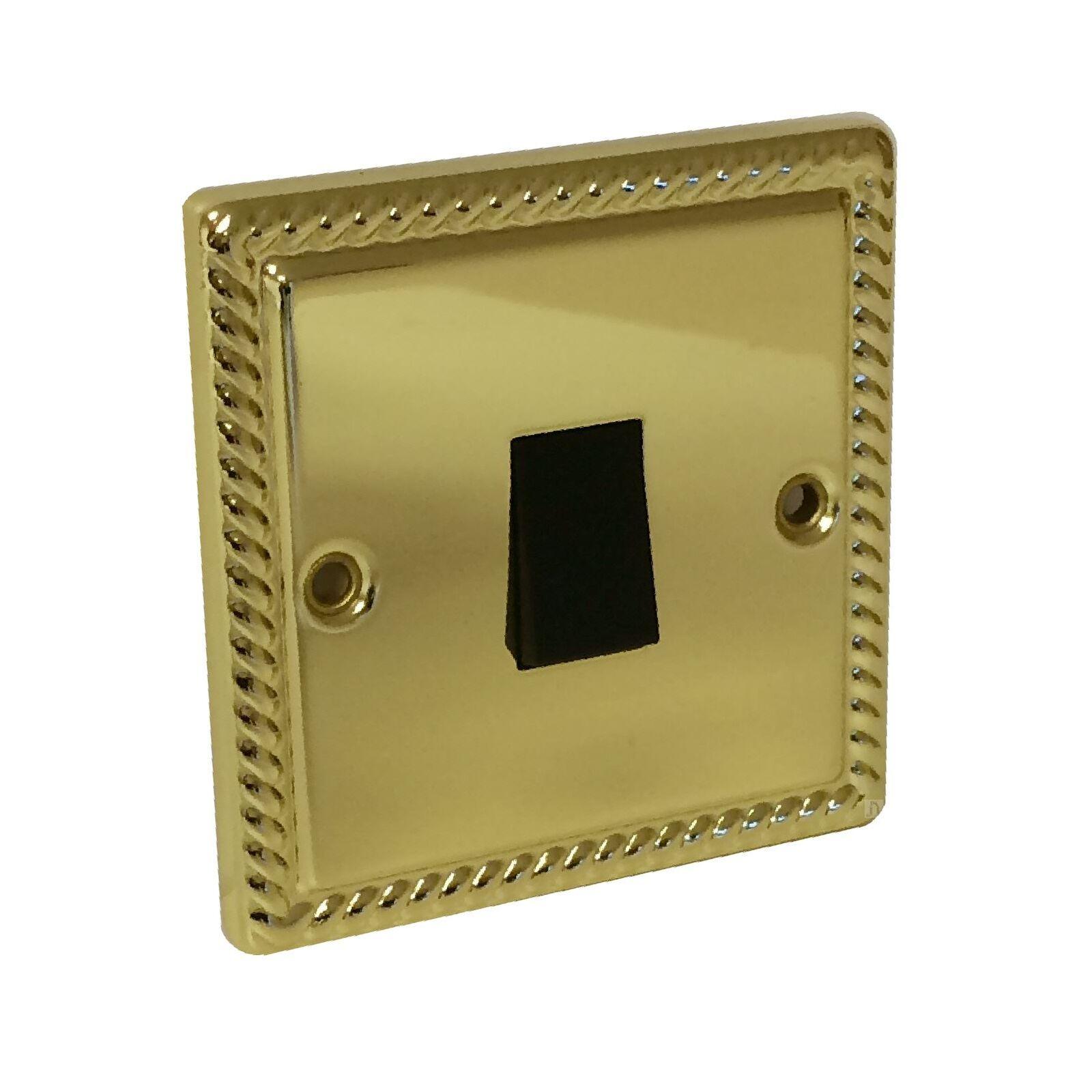 6A 1Gang 2W Switch Georgian Brass REDGREY