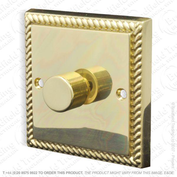 Dimmer 1G 1W 250w Push Victor Brass ECO