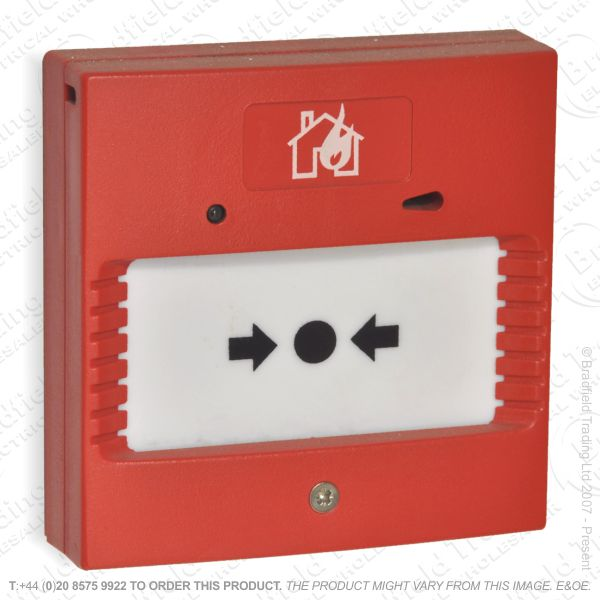 I07) Fire-Alarm Break Glass Switch Red