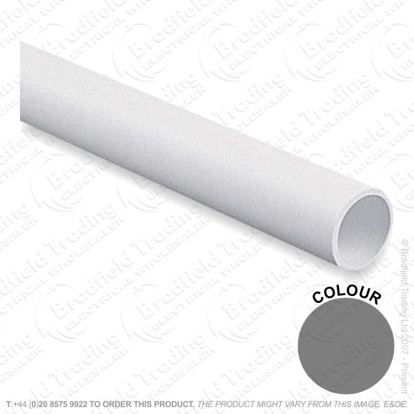 Conduit PVC Round 25mm LG 3M Black