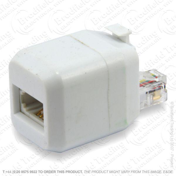 E16) Telephone Adaptor USplug RJ11 - BTsocket