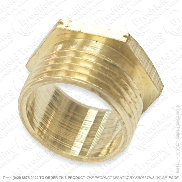 H19) Conduit Bush Male brass 25mm