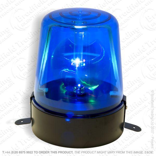 D12) Blue Police Light Flashing Rotating LLO
