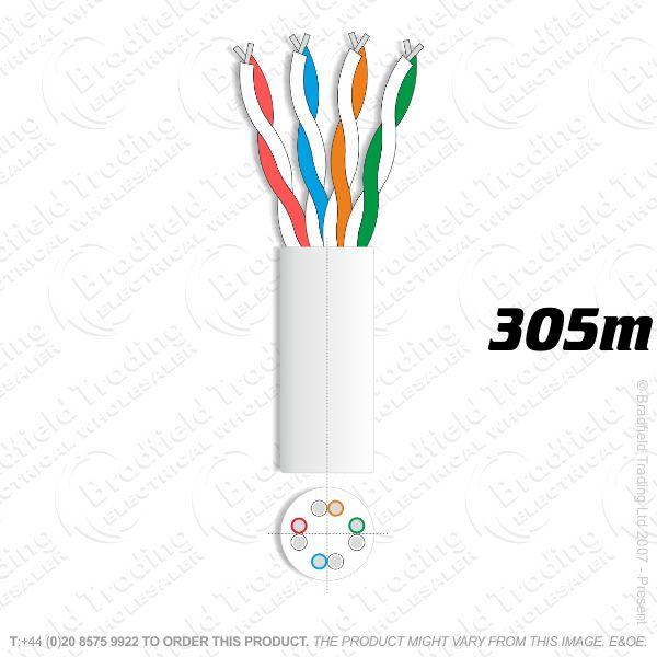 H08) Cat 5E Network 305M Pure Copper