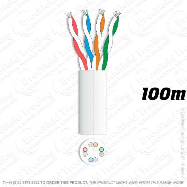 H08) Network UTP CCA 100M ECONOMY Cable