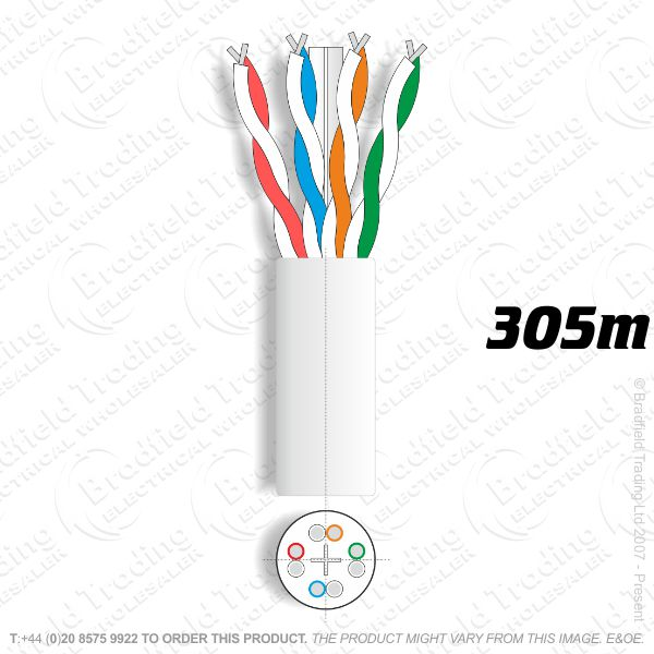 H08) Cat 6 Network Cable 305M Box