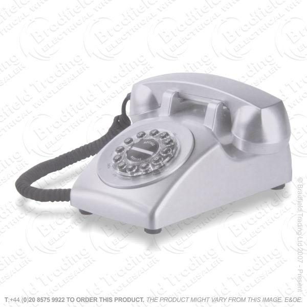 E15) Telephone Corded Classic Chrome