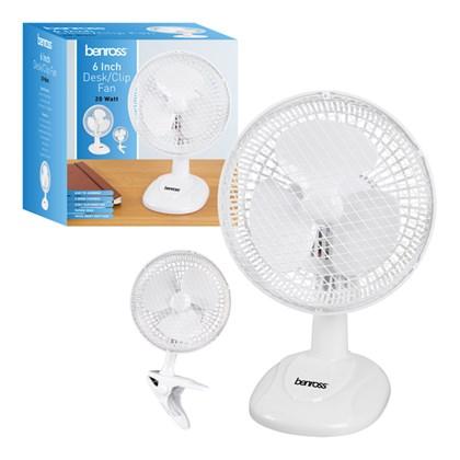 D07) Fans Clipon/Desk 6  2speed white