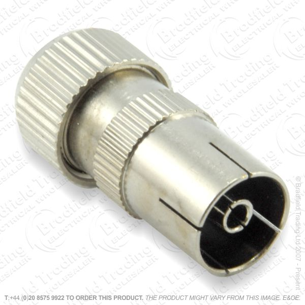 E31) Plug Coax Female Copper Plated