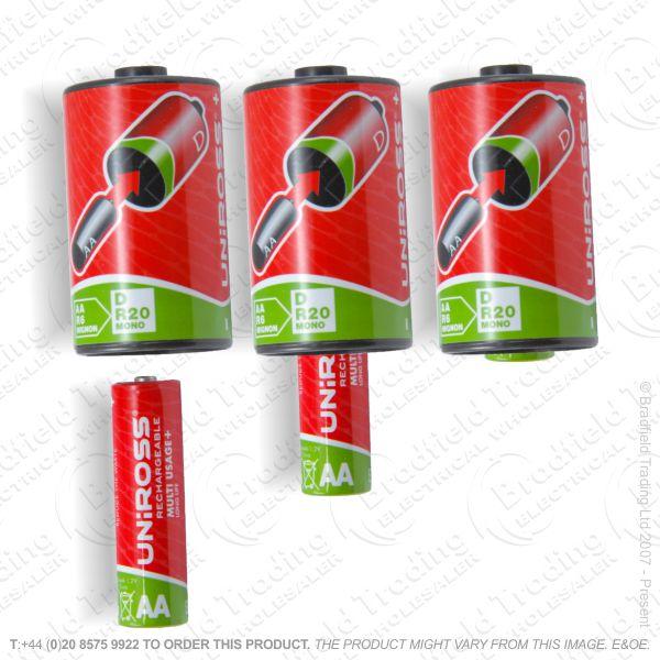 E10) BatteryConverta from1xAA to1xD UNI