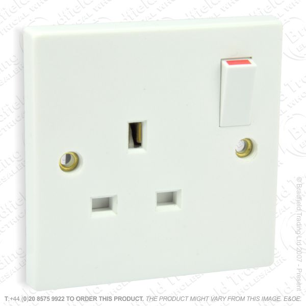 I12) Socket Switched 2G 13A white CRA