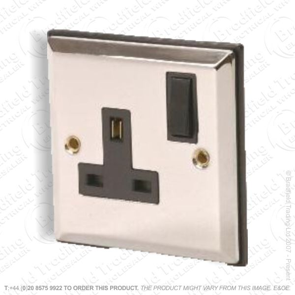 Socket Sw 1G 13A Chrome ECO