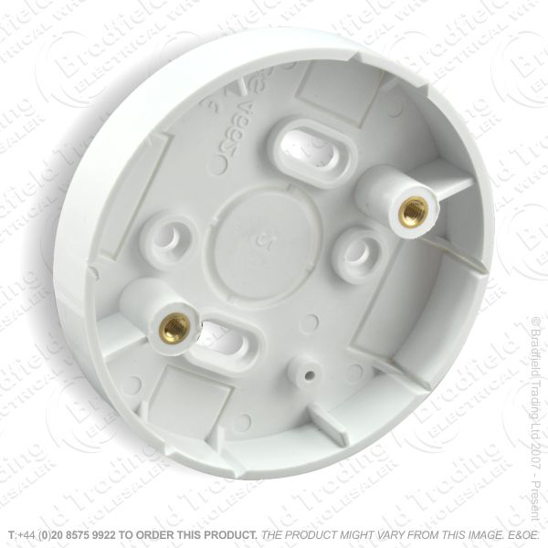 B09) Trunking PVC Ceiling Rose Adaptor