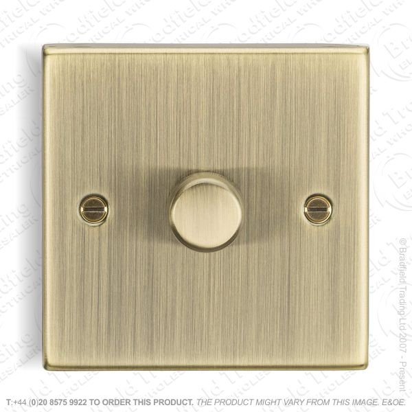 1g Dimmer Switch 150w LED Ant Brass ML